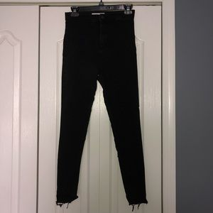 Topshop Joni frayed hem jeans